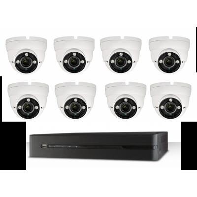 Monitoring pełny zestaw 8 kamer + akcesoria z montażem